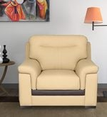 One Seater Sofa in Beige Colour