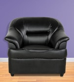 One Seater Sofa in Black Colour