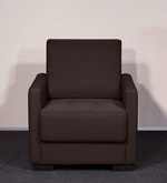 One Seater Sofa in Brown Colour