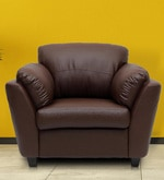 One Seater Sofa in Dark Brown Colour