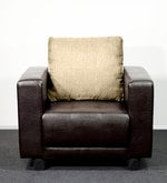 One Seater Sofa in Light Brown & Brown  Colour