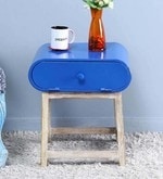 Oneya End Table in Blue Color