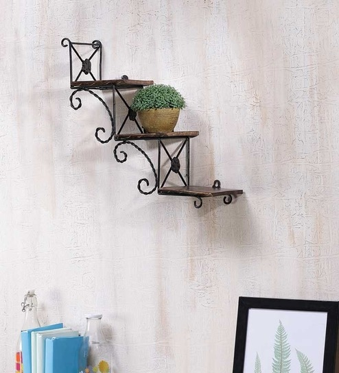shelf decorative wall today arrow shipping home wood rustic garden product lelay free