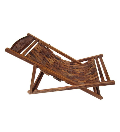 Buy Wooden Foldable Easy Chair by Shiraj Handicrafts Online