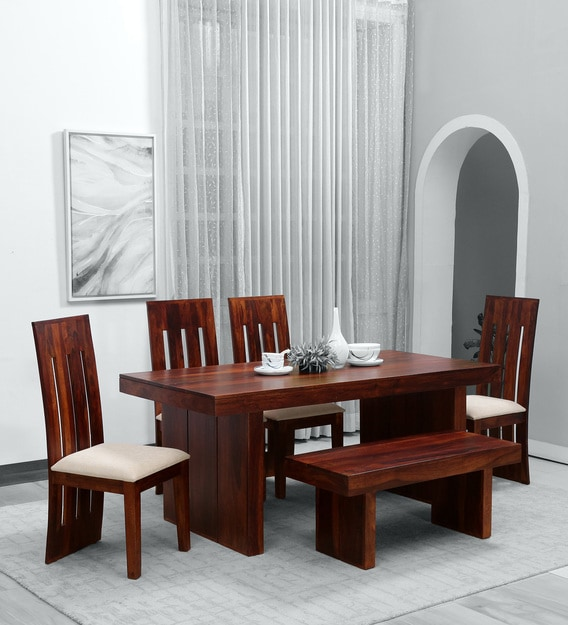 Oneill Solid Wood 6 Seater Dining, Wood Dining Room Table Chairs