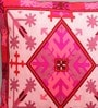 Fuchsia Pink Canvas 16 x 16 Inch Aari-Embroidered Cushion Cover - Set of 2 by One Good Thing