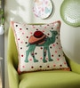 Peach & Green Cotton 16 x 16 Inch Dessert Safari Cushion Cover by One Good Thing