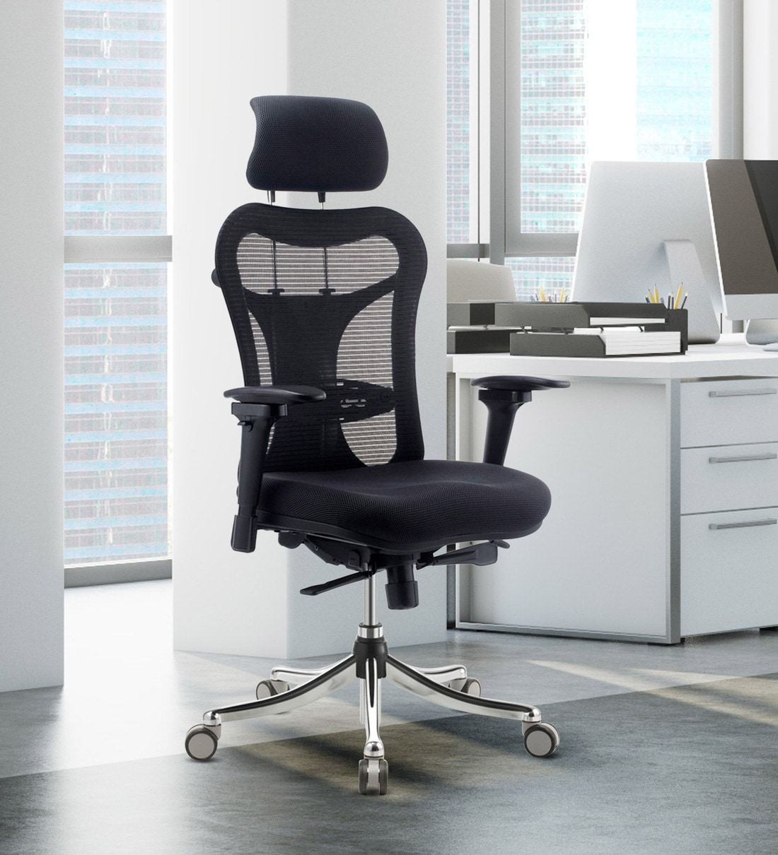 Buy Optima Executive Chair In Black Colour By Oblique Online Vip Zero Vip Zero Wtf Deals Reg Pepperfry Product