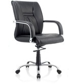 Opal Medium Back Ergonomic Chair in Black Colour