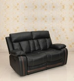 Optima Two Seater Recliner in Black Colour