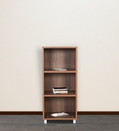 Open Book Shelf in Walnut Colour by Addy Design at pepperfry