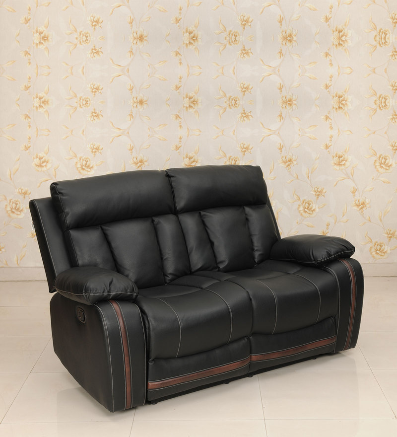Optima Two Seater Recliner in Black Colour by Royal Oak