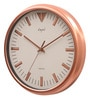 Copper Metal 11.5 Inch Round Wall Clock by Opal