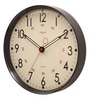 Black ABS 12 Inch Round Wall Clock by Opal