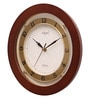 Brown Wooden 9.5 Inch Round Designer Wall Clock by Opal