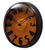 Black Metal 12.5 Inch Round Designer Wall Clock by Opal