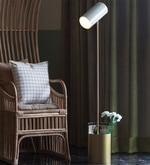 Off White Iron Midas Floor Lamp