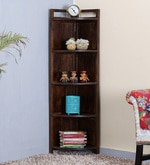 Oriel Solid Wood Display Unit in Provincial Teak Finish