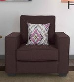 Oritz One Seater Sofa with Cushions in Chestnut Brown Colour