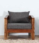Orting Single Seater Sofa in Provincial Teak Finish