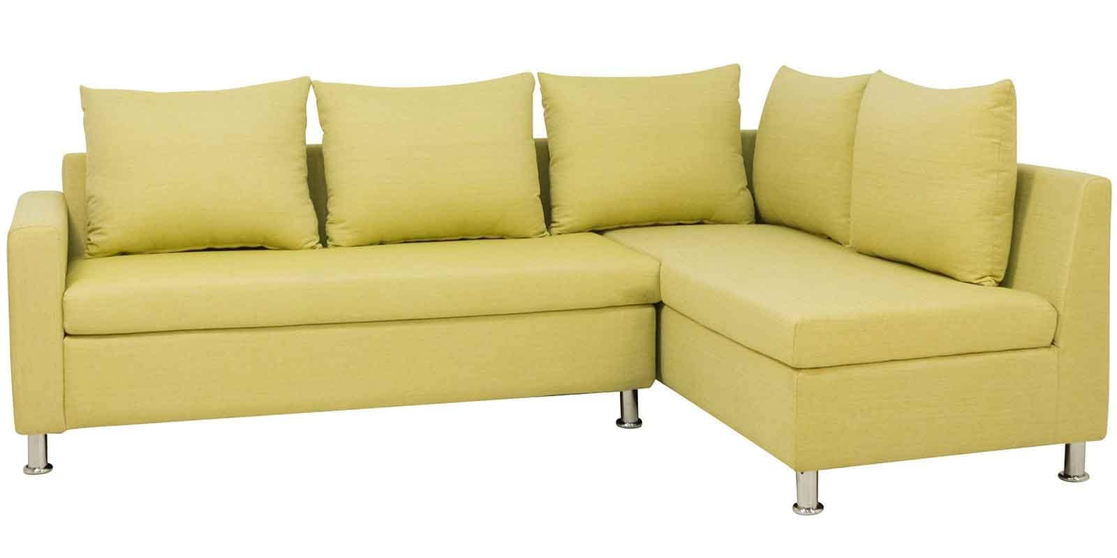 Picture of: Buy Orlando Lhs Sectional Sofa In Olive Green Colour By Urban Living Online Sectional Sofas Sectional Sofas Furniture Pepperfry Product