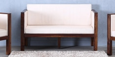 Oriel Two Seater Sofa in Provincial Teak Finish