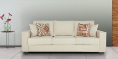 Oritz Three Seater Sofa with Cushions in Pale Taupe Colour