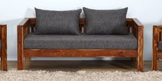 Orting Two Seater Sofa in Provincial Teak Finish