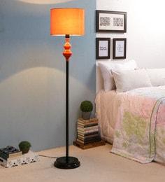 Orange Fabric Floor Lamp