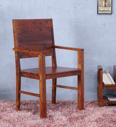 Oriel Arm Chair In Honey Oak Finish