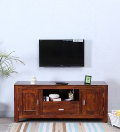 Oriel Two Door  Entertainment Unit In Honey Oak Finish