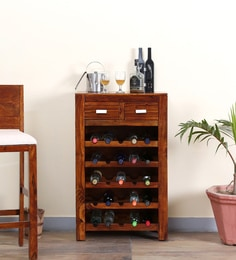 Oriel Wine Rack In Honey Oak Finish