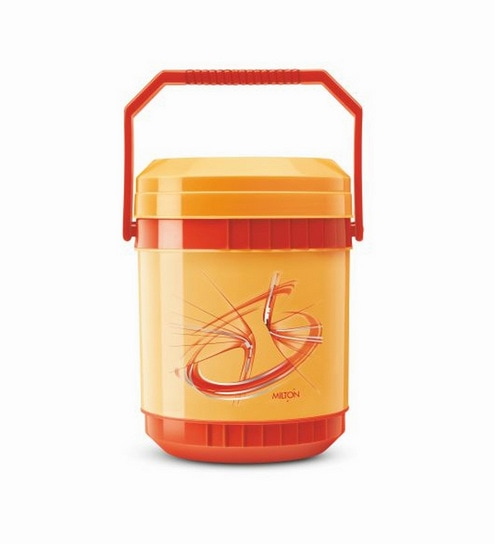 Orange Plastic & Stainless Steel Lunch Box With Leak Lock 3 Containers