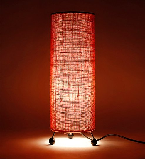 Buy orange jute table lamp by lavish online contemporary table orange jute table lamp by lavish mozeypictures Image collections