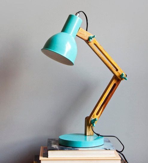 Wonderful Blue Iron Auro Study Table Lamp By Orange Tree