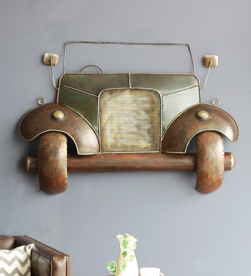 Brown Iron Gadee Hanging Wall Decor By Orange Tree