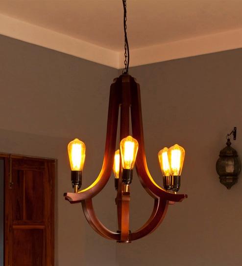 Buy orange tree brown wood corona chandelier online chandeliers brown wood corona chandelier by orange tree mozeypictures Images