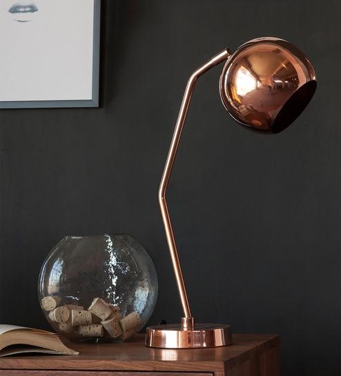 Buy orange tree copper colored iron dew study table lamp online copper colored iron dew study table lamp by orange tree aloadofball Choice Image