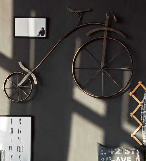 Buy gold iron retro cycle wall decor by orange tree online for Iron accents promo code