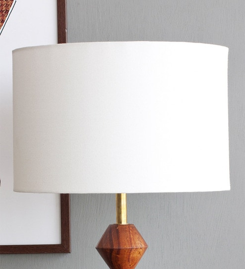 offwhite cotton drum lamp shade by orange tree - Drum Lamp Shades