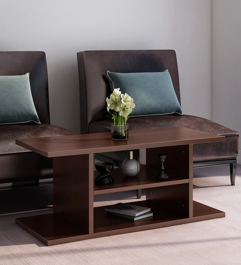 Orca Coffee Table In Walnut Finish By Klaxon