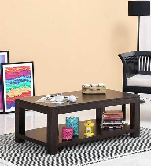 Contemporary Coffee Table.Oriel Solid Wood Coffee Table In Warm Chestnut Finish By Woodsworth