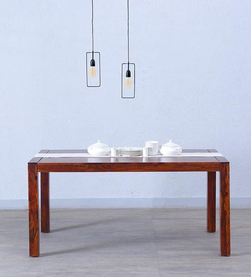 Oriel Six Seater Dining Table In Honey Oak Finish