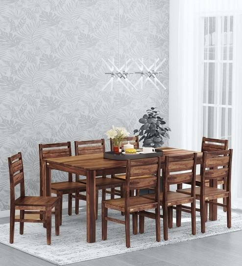 Oriel Solid Wood 8 Seater Dining Set
