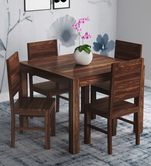 Buy Oriel Four Seater Dining Set In Provincial Teak Finish By Woodsworth Online