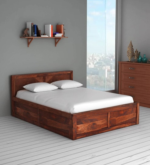 superb wood queen box bed free