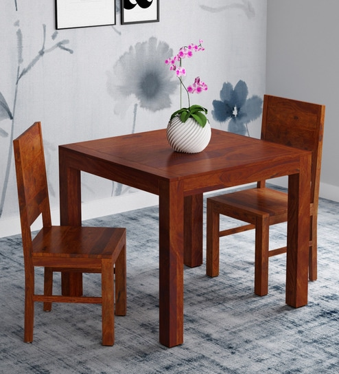 Two Seat Dining Set: Buy Oriel Solid Wood Two Seater Dining Set In Honey Oak