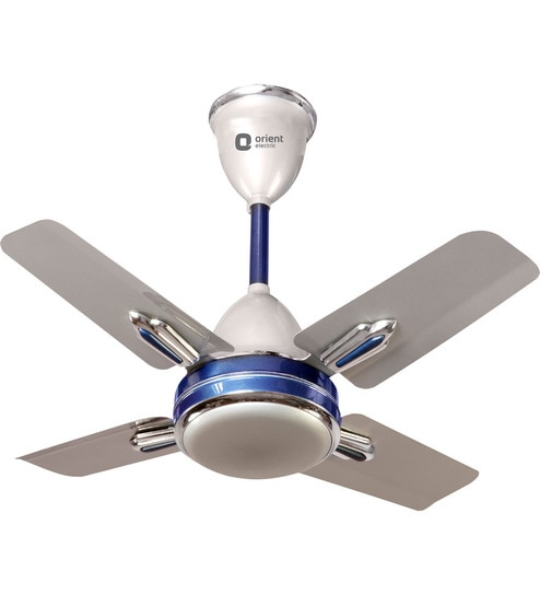 Price To Install Ceiling Fan: Buy Orient Quasar Ornamental Silver Blue 600mm Designer