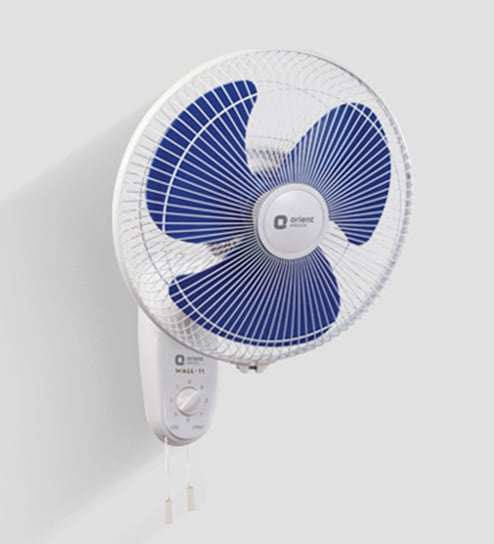orient wall 11 300 mm white blue wall mounted fan