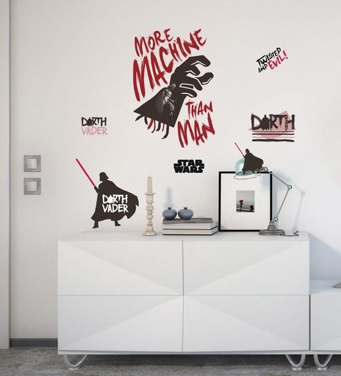 62f1b6d7a Buy Licensed Darth Vader Digital Printed Wall Sticker by Orka Online ...